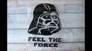 Виниловая наклейка Звездные войны / Star Wars - Дарт Вейдер / Darth Vader - Распаковка