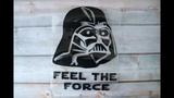 Виниловая наклейка Звездные войны Star Wars - Дарт Вейдер Darth Vader - Распаковка
