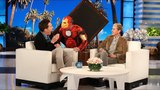 Benedict Cumberbatch Gets a Scare from 'Iron Man'