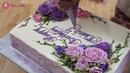 Bánh Sinh Nhật Đẹp Trang Trí Hoa Hồng Với Ren Đường - Decorate Nice Cake with Roses and Lace Sugar