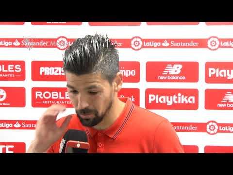 Nolito: Hemos sacado un punto donde nadie pensaba que lo íbamos a sacar. 14/04/19. Sevilla FC