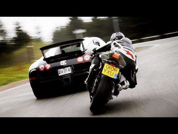 Топ 6 Самых Безумных Уличных ГОНОК! Суперкары против Мотоциклов
