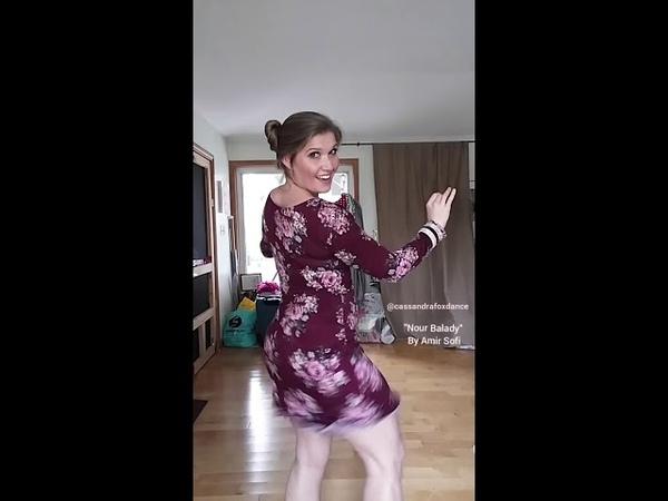 Cassandra Fox dances to drum solo Nour Balady by Amir Sofi