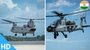 🔴 WATCH : 1st Flight of Indian Air Force's AH-64E Apache CH-47 Chinook Helicopters