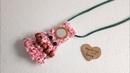 How to make fabric jewelry /diy boho jewelry /How to make gypsy jewelry
