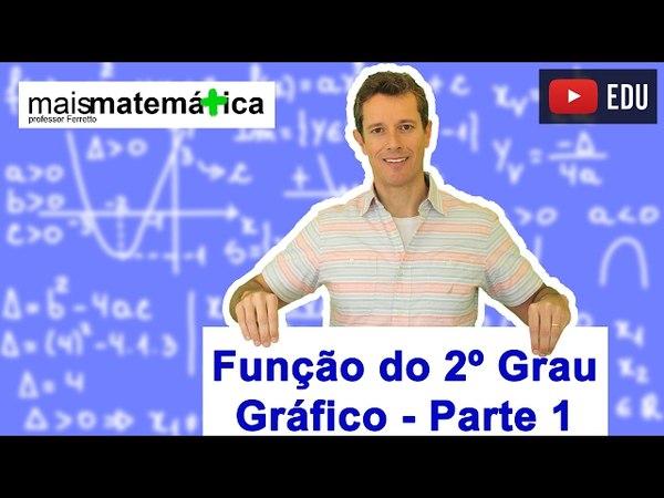 Função do Segundo Grau (Função Quadrática): Gráfico Parábola (Aula 5 de 9)