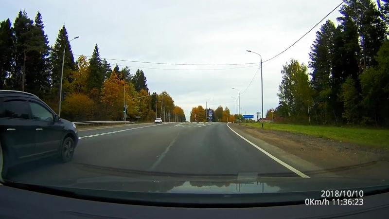 Трасса М8 с реальным звуком. Радары и камеры.Октябрь 2018. Driving in Real Time