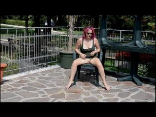 Barefoot Nudity - OXANA lazy barefoot flashing 3