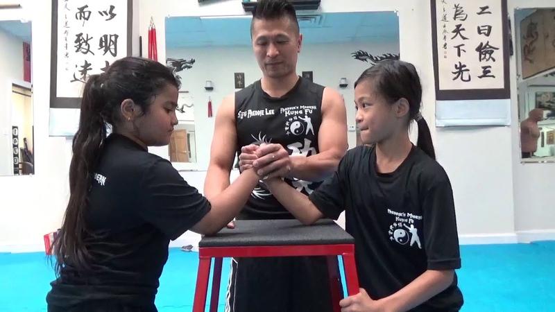 Kung Fu Kids Arm Wrestling