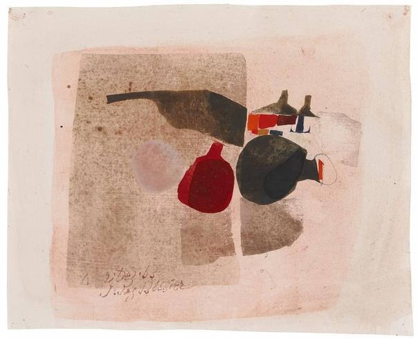 Юлиус БИССЬЕ, Julius Bissier ( 3 декабря 1893-1965 ) немецкий художник . В 1930 году обратился к абстракции, испытывая влияние Баумейстера (с которым он был дружен с 1929 года) и Бранкузи (с