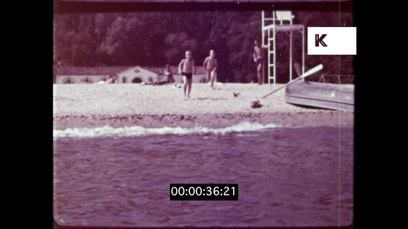 Kids Playing on the Beach, 1960s UK, HD from 16mm