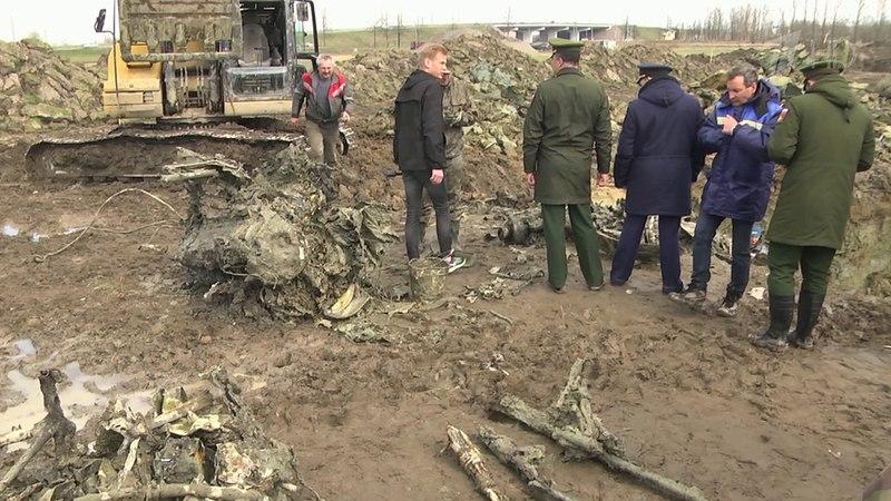 ВСанкт-Петербурге предадут земле тело летчика, погибшего всентябре 1941 года. Новости. Первый канал