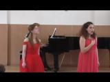 Дуэт Казарян М.-Огаркова С-В.А.Моцарт Дуэт Сюзанны и Марцелины из оперы