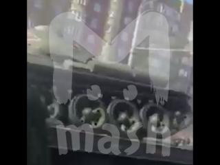 В Курске перевернулся танк Т-34