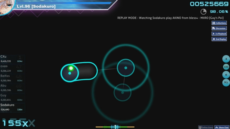Osu! | AKINO from bless4 - MIIRO(KanColle op) 175 pp FC