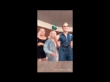 Millie Bobby Brown, Maddie Ziegler, Lilia Buckingham InstaStory Videos 30.09.2018