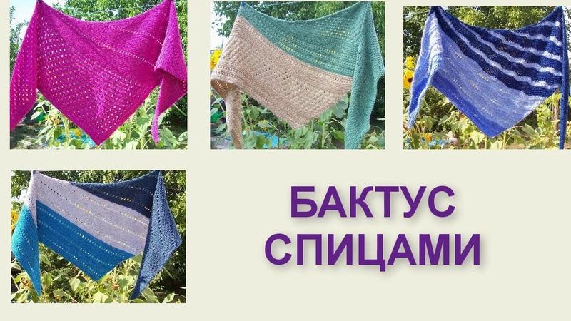 Бактус (шейный платок) Вязание спицами 367