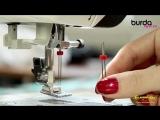 Швейная машинка. Видео урок 8 от Burda- защипы двойной иглой