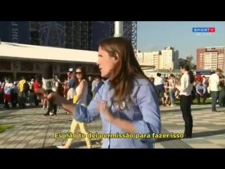Great response from Brazilian TV journalist Julia Guimaraes of Sportv to unacceptable beha