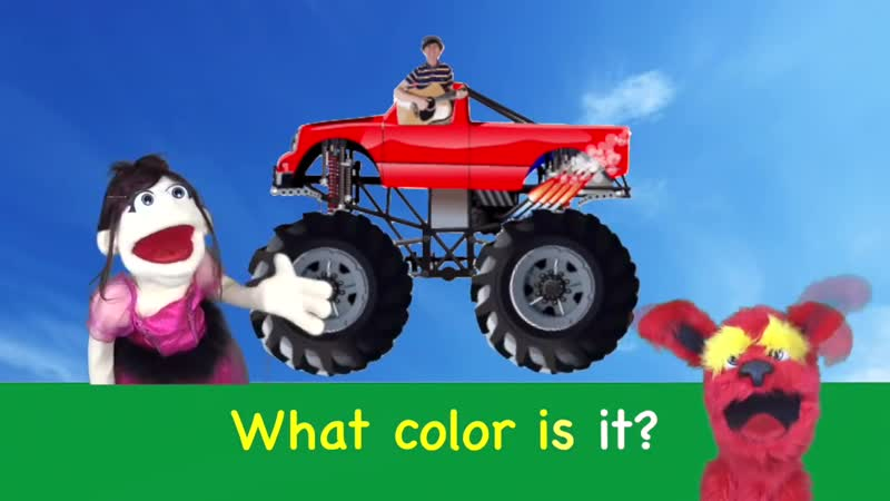 What Color Is it Monster Trucks Learn Primary Colors with Matt Learn English Kids