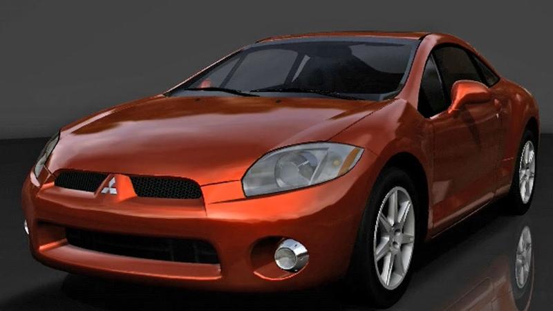 Forza Motorsport 2 (XBox 360, 2007) | FWD Mitsubishi Eclipse GT V6 3.8 24V - Test Drive Gameplay [1080p60FPS]