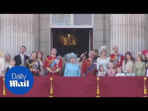 Royal family on the balcony after Trooping the Colour - Daily Mail
