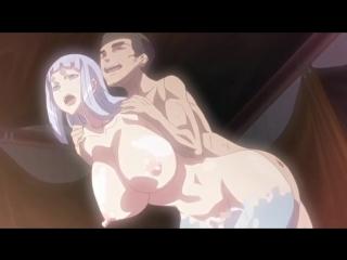 Хентай порно. Девушку с огромными буферами глубоко трахнули двое мужиков, море спермы