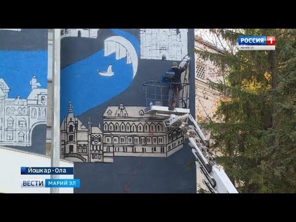 Меняется на глазах роспись фасада музея ИЗО планируют завершить ко Дню республики