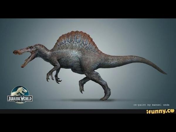 Как выглядит спинозавр без паруса