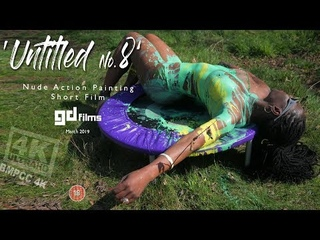 8 Nude Art Ebony Action Body Painting 'Untitled No.8' • GD Films • BMPCC 4K Deep House