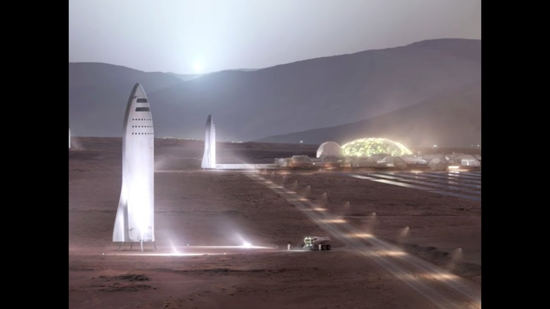План Илона Маска по колонизации Марса IAC2017  29.09.2017 (На русском)