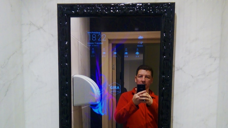 Сенсорное умное зеркало для ванной - Smartsy Mirror для GIRA