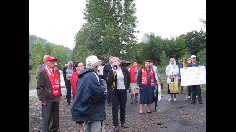 Выступление на митинге против повышения пенсионного возраста Междуреченск 05.08.2018 г.