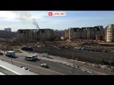 В Мытищах горит жилой дом на улице Благовещенской - Live