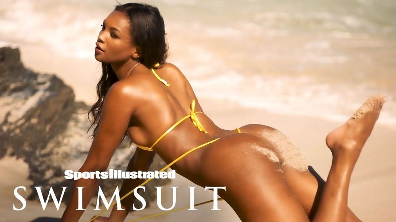 Jasmyn Wilkins Shows Off Her Sandy Cheeks, Makes A Splash | Outtakes | Sports Illustrated Swimsuit
