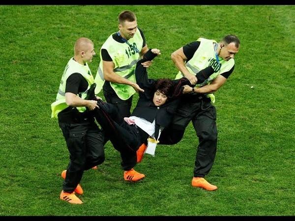 Менты выбежали на поле во время финала ЧМ 2018 Франция - Хорватия