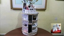 DIY 89 Rotating Cosmetic Makeup Organizer With My Own Idea Rotating Base Without Stick