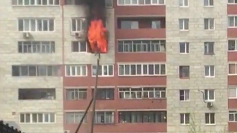 Хата сгорела напротив офиса СКР. Real video