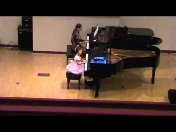 Harmony Zhu, 6 yrs old, plays Concerto-Variations in E minor by Tanya Shevtsova