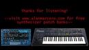 Roland JP8000 JP8080 Alan-M Trance / EDM Soundset Rev2 -- Virtual Analog Synth Audio Demo