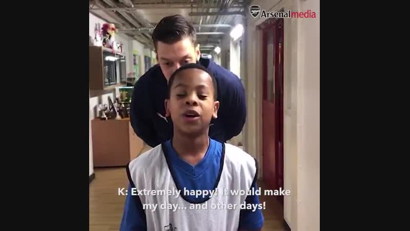 It was just an ordinary day at school for Arsenal fan Kyan - until this happened…