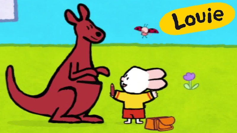 Cartoon for kids - Louie draw me a Kangaroo HD | Learn to draw