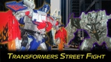 Transformers Street Fight Stop Motion