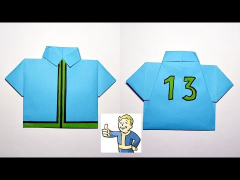 How to make an asylum resident's SHIRT 13 | Fallout | ORIGAMI out of paper Tutorial