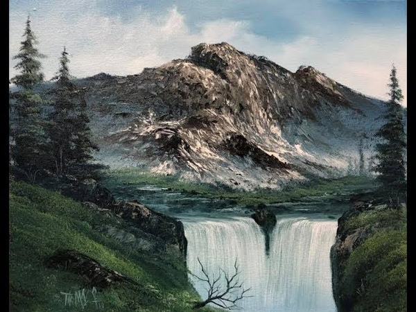 Magic Mountain Falls ( PWM Se:6 ep 1) wet on wet oil painting