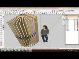 Анимация открывания двери в SketchUp open door animation