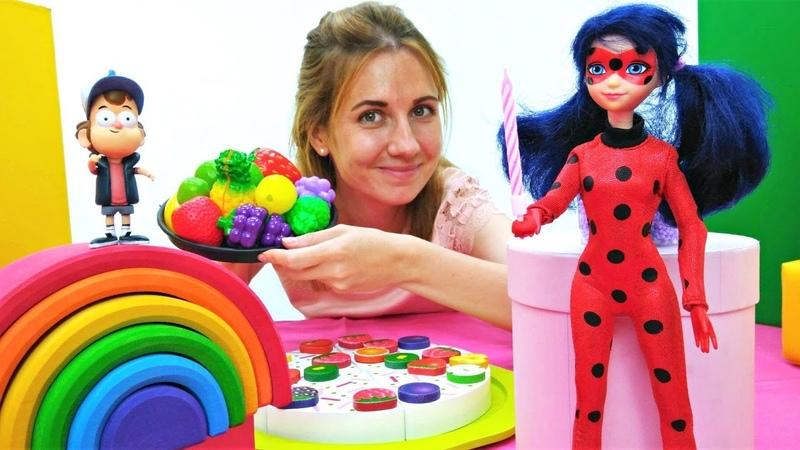 Мультики для детей. Ищем подарок для Мейбл в разноцветных комнатах