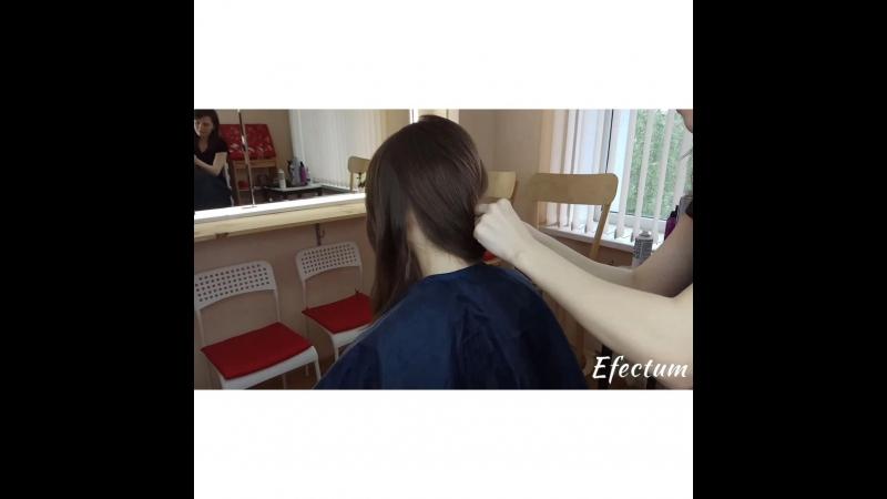 процесс создания экспресс причёски ♥
