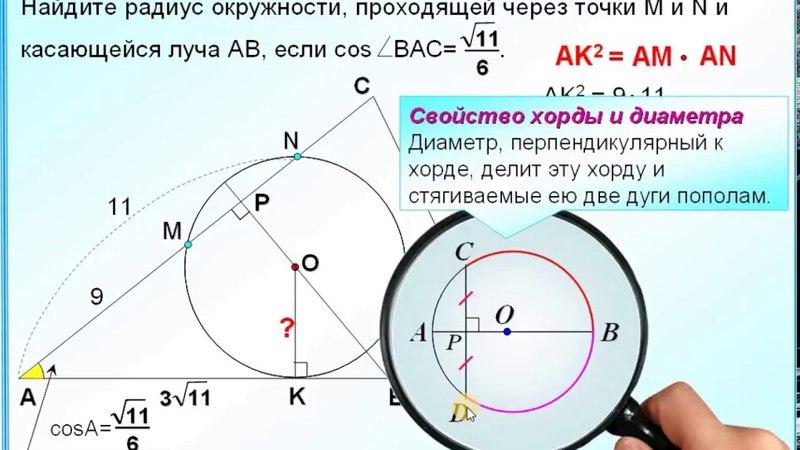 ОГЭ Задание 26 Соотношения синус косинус, тангенс