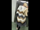 Пальто из меха лисицы